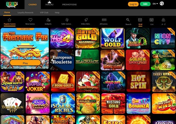 Spin Million Casino free bonus code