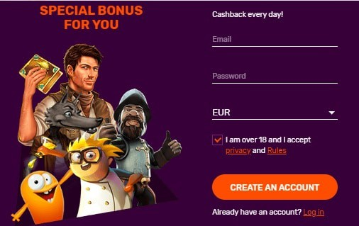 Register here to claim 100 free spins!