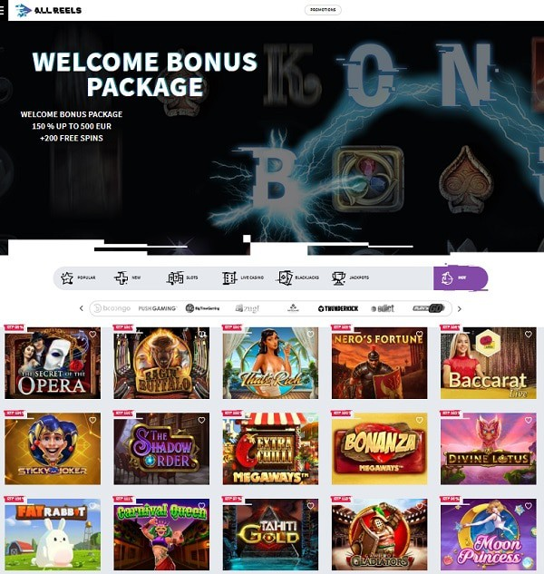 All Reels Casino Online Review