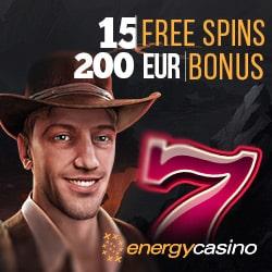 Energy Casino 15 free spins NDB + 55 gratis spins + €400 free bonus