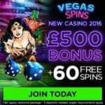 Vegas Spins Casino review: £500 bonus and 60 free spins