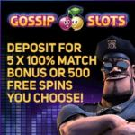 Gossip Slots Casino | 250 free spins and 500% up to $5000 bonus