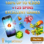 Vegas Winner Casino – €300 gratis and 125 free spins – exclusive bonus
