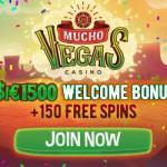 Mucho Vegas Casino   150 free spins   €/$1500 gratis   600% bonus