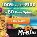 Mr Win Casino | 30 gratis spins   100% free bonus   50 free spins