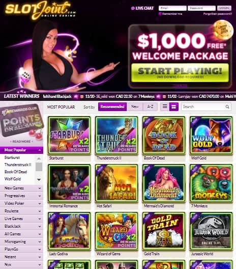 SlotJoint Casino Online & Mobile Review