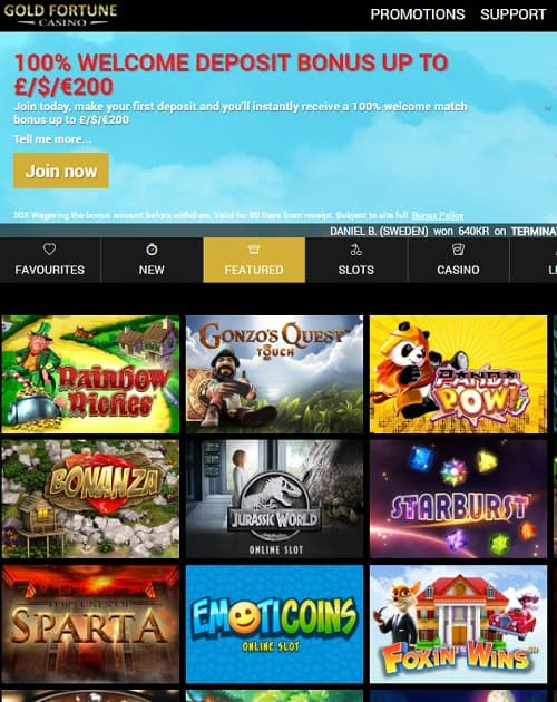 Gold Fortune Casino free bonus