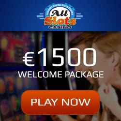 All Slots Casino 100 free spins + €1,500 exclusive weclome bonus