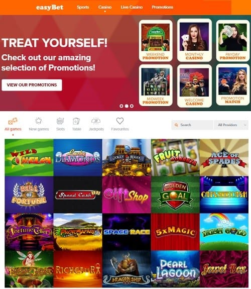 Easybet Casino free spins bonus on deposit