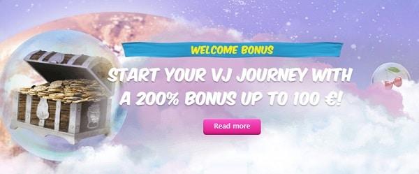 200% bonus and Free Spins to Vera and John Casino