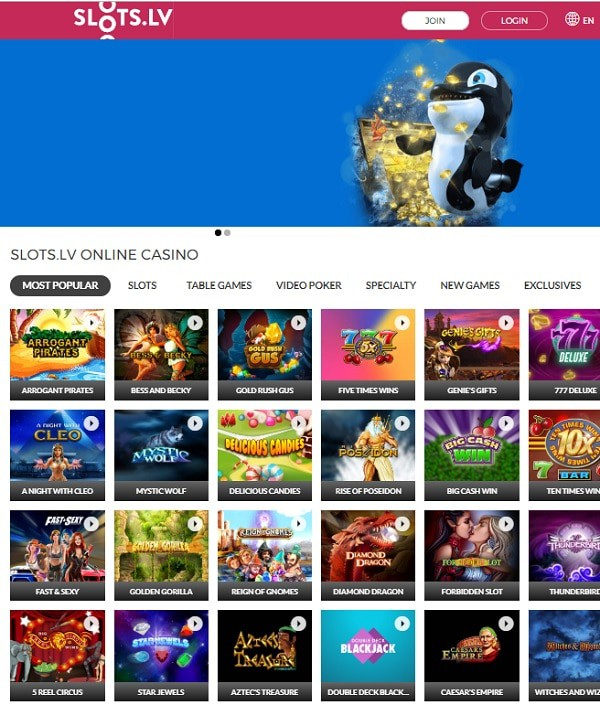 Slots.lv Casino play free slot machines