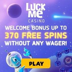 Luckme Casino 370 free spins on the Wheel of Fortune (bonus)