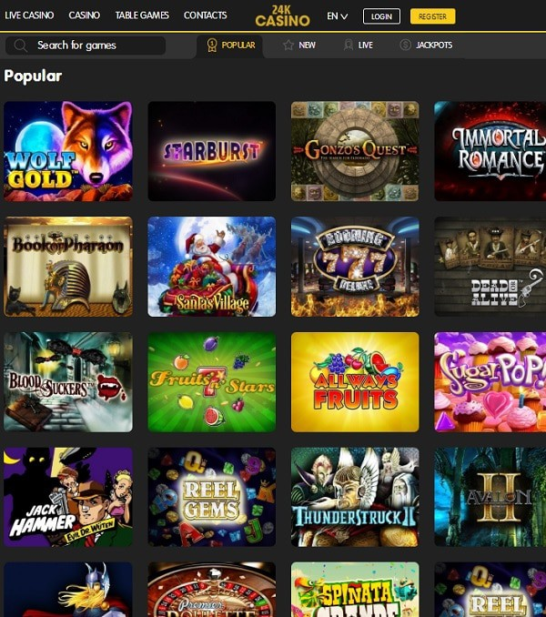 24K Casino online and mobile