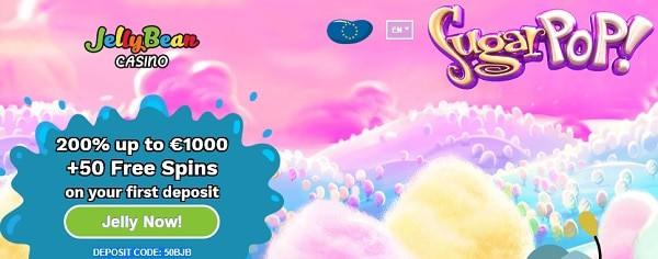 Jelly Bean Casino 50 free spins bonus