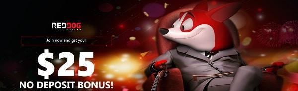 Red Dog Casino $25 free bonus without deposit