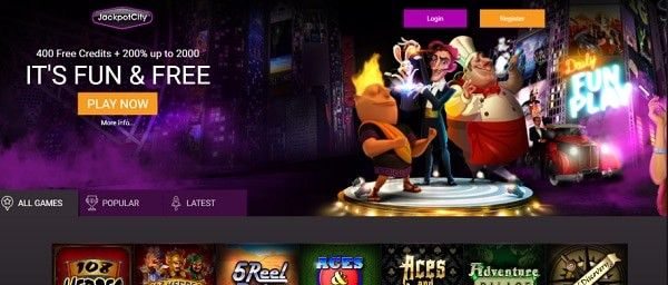 JackpotCity Casino free play games