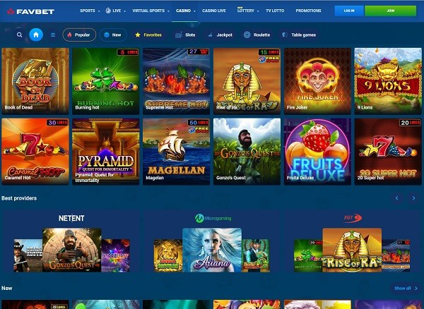 Register at FavBet and play casino games and bet on sports!