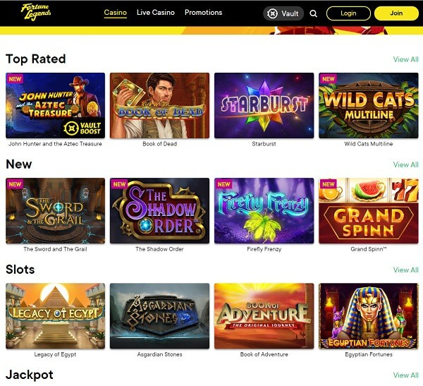Register at Fortune Legends Casino Now!