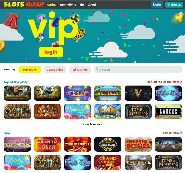 Slots Rush Casino Online Review