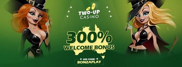 US/AU Casino welcome bonus: 300%
