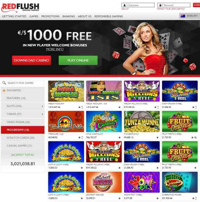 Red Flush Casino Online & Mobile - free spins bonuses!
