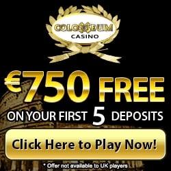 Colloseum Casino banner 250x250