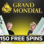 Grand Mondial Casino – 150 free spins bonus on Mega Moolah jackpot