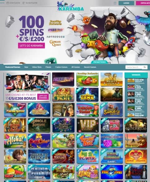Karamba Casino 20 free spins no deposit bonus - exclusive promotion