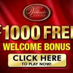 Villento Casino 200% up to $1,000 free bonus & free play games