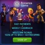 Bonanza Game Casino 100 free spins + 250% up to $750 free bonus