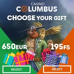 Columbus Casino (online & mobile) - 650€ bonus chips and 195 gratis spins