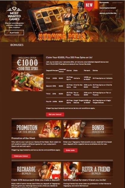 Vegas Play Online Casino free spins bonus