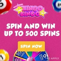 Zingo Bingo Casino - 500 free spins & £750 free bonus every week