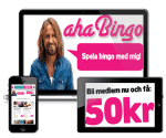 Aha Bingo - 50kr gratis bonus and 100 free spins - Online Casino