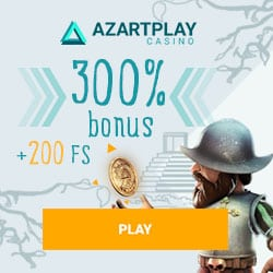 AzartPlay (Aplay Casino) 300% bonus   200 free spins for new players
