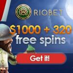 Riobet.com [Casino & Sports] 320 free spins and $1,000 bonus money