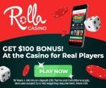 Rolla Casino 500 free spins and 500 EUR free bonus on registration