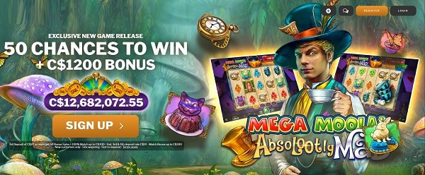 Absolutely Mad jackpot free spins