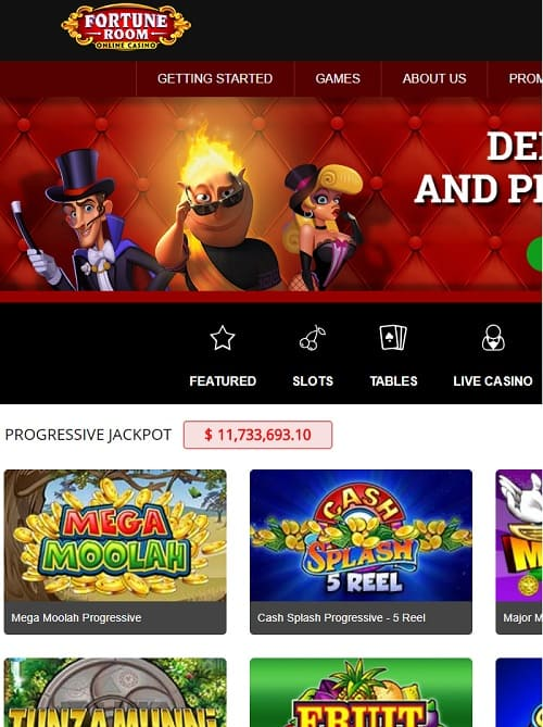 Fortune Room Casino free spins bonus