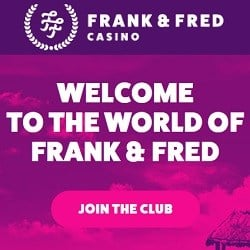 Frank Fred Casino 100 no deposit free spins + €1000 bonus + 200 FS