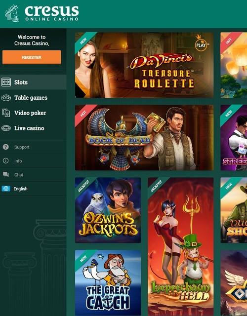 Cresus Casino free bonus