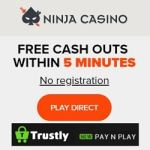 Ninja Casino [Trustly login, no registration] – Gratis Spins & Free Bonus