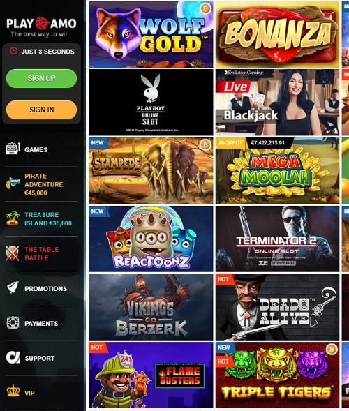 Playamo Casino free bonus