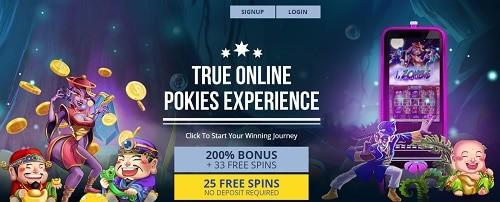 True Blue Casino free bonus no deposit required