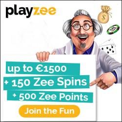 Playzee Casino €1,500 New Player's Bonus + 150 Spins + 500 Points