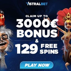 AstralBet Casino [register & login] 129 gratis spins + $3000 free bonus
