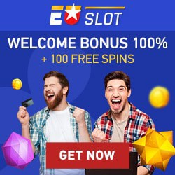 EUSLOT Casino 100 free spins and €100 welcome bonus code