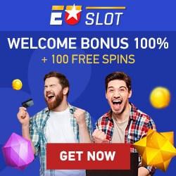 EUSLOT Casino 100 free spins and €100 welcome bonus code