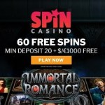 Spin Casino 60 free spins bonus with deposit required