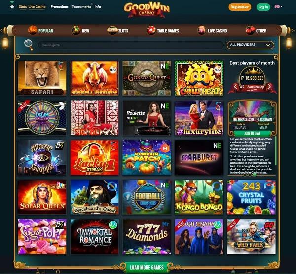 Goodwin Casino Online bonus code